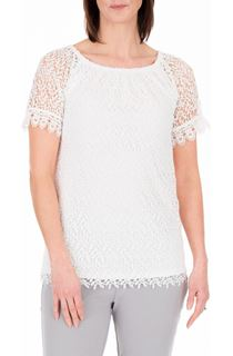 Anna Rose Short Sleeve Crochet Top