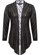 Anna Rose Glitter And Lace Cover Up Black - Gallery Image 1