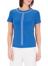 Anna Rose Lightweight Embellished Top Blue - Gallery Image 2