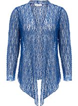 Anna Rose Sparkle Knit Tie Cover Up Cobalt - Gallery Image 1