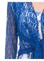 Anna Rose Sparkle Knit Tie Cover Up Cobalt - Gallery Image 4