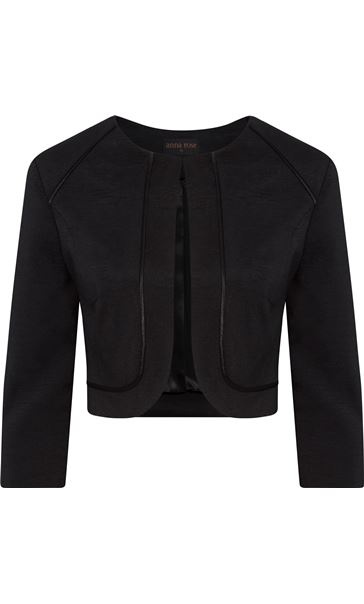 Anna Rose Cropped Open Jacket Black