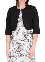 Anna Rose Cropped Open Jacket Black - Gallery Image 2