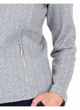 Anna Rose Zip Jacket With Lurex Grey Marl/Silver - Gallery Image 4
