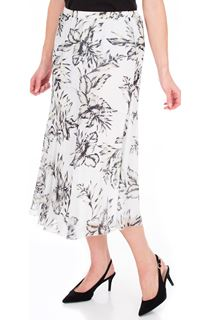 Anna Rose Bias Cut Chiffon Midi Skirt