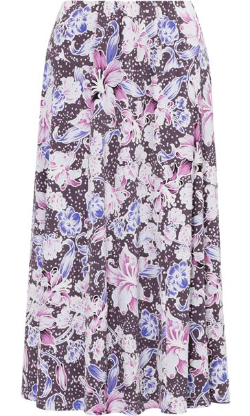 Anna Rose Floral Jersey Midi Skirt Mauve