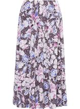 Anna Rose Floral Jersey Midi Skirt Mauve - Gallery Image 1
