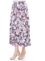 Anna Rose Floral Jersey Midi Skirt Mauve - Gallery Image 2