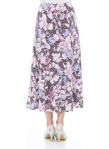 Anna Rose Floral Jersey Midi Skirt Mauve - Gallery Image 3