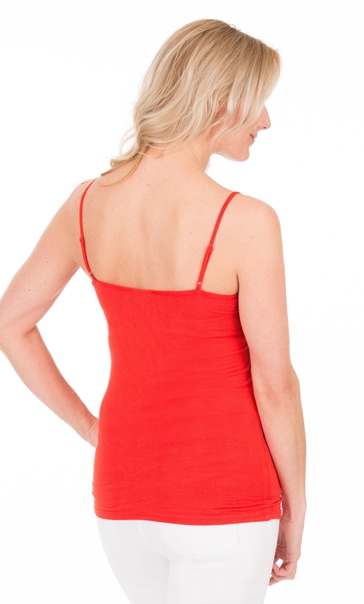 Adjustable Strappy Jersey Cami Top Red - Gallery Image 2