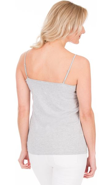 Adjustable Strappy Jersey Cami Top - Grey