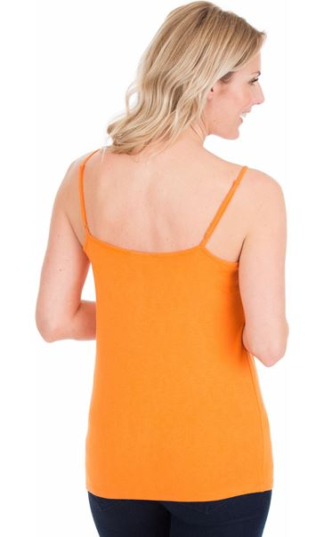 Adjustable Strappy Jersey Cami Top - Orange
