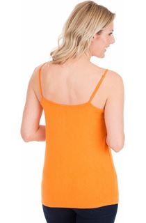 Adjustable Strappy Jersey Cami Top - Tangerine