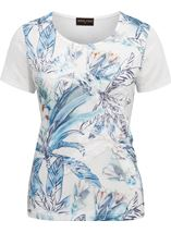Anna Rose Applique Short Sleeve Top White/Blue - Gallery Image 1