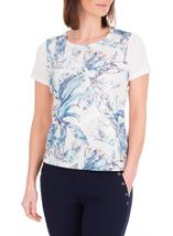 Anna Rose Applique Short Sleeve Top White/Blue - Gallery Image 2