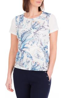 Anna Rose Applique Short Sleeve Top