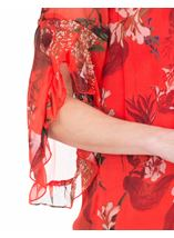 Printed Chiffon Frill Sleeve Top Ruby - Gallery Image 3