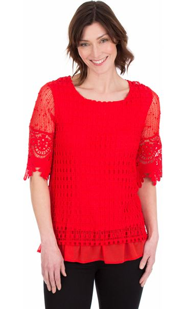 Crochet Layered Top Ruby