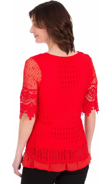 Crochet Layered Top Ruby - Gallery Image 2