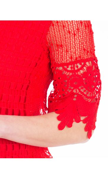 Crochet Layered Top Ruby - Gallery Image 3