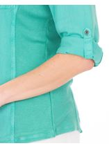 Fitted Washed Turn Sleeve Shirt Jade - Gallery Image 3