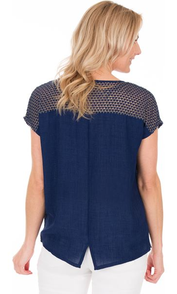 Lightweight Knit And Fabric Top