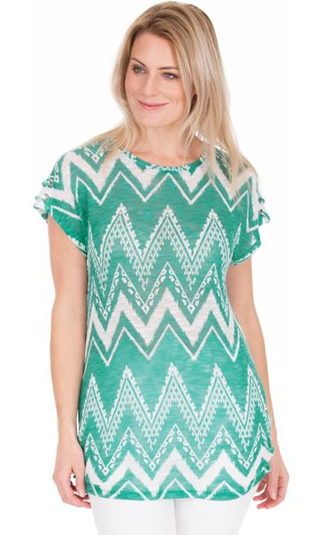 Lightweight Knitted Loose Fitting Tunic Jade/Teal