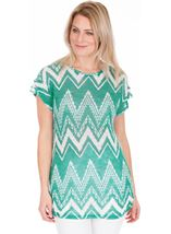 Lightweight Knitted Loose Fitting Tunic Jade/Teal - Gallery Image 1