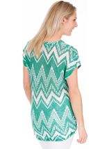 Lightweight Knitted Loose Fitting Tunic Jade/Teal - Gallery Image 2