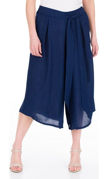 Pull On Culottes Navy