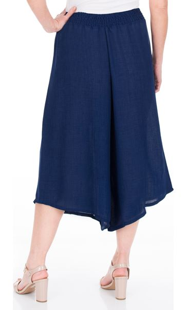 Pull On Culottes Navy - Gallery Image 2