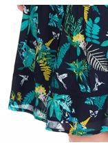 Garden Printed Smocked Cotton Midi Skirt Navy/Teal/Jade - Gallery Image 3