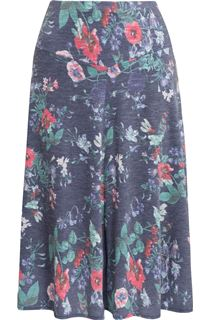 Anna Rose Floral Fit And Flare Midi Skirt