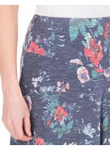 Anna Rose Floral Fit And Flare Midi Skirt White/Coral - Gallery Image 4