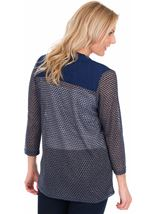 Lightweight Knitted open Cover Up Navy - Gallery Image 2