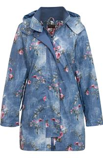 Anna Rose Waterproof Floral Printed Coat