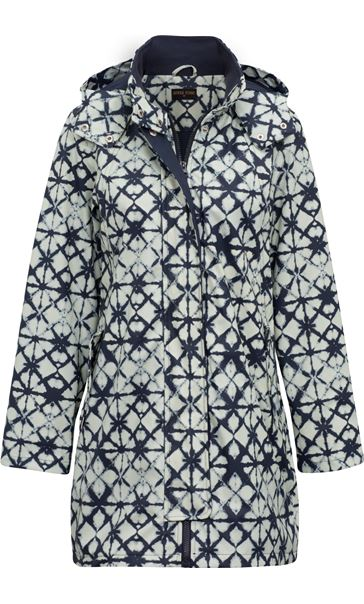 Anna Rose Waterproof Printed Coat Navy