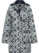 Anna Rose Waterproof Printed Coat Navy - Gallery Image 1