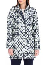 Anna Rose Waterproof Printed Coat Navy - Gallery Image 2
