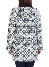 Anna Rose Waterproof Printed Coat Navy - Gallery Image 3