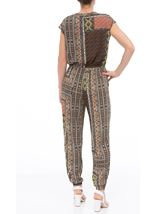 Printed Zip Front Jumpsuit Multi - Gallery Image 2