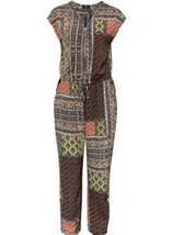 Printed Zip Front Jumpsuit Multi - Gallery Image 4