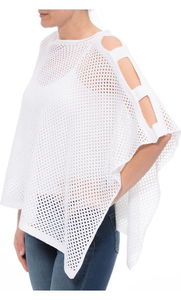 Knitted Poncho White