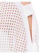 Knitted Poncho White - Gallery Image 4