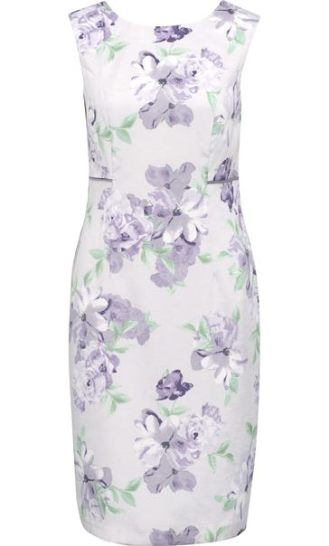Anna Rose Printed Fitted Dress Lilac Multi