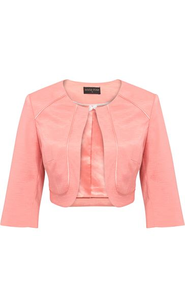 Anna Rose Cropped Open Jacket Coral