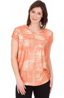 Loose Fit Foil Printed Top