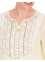 Embellished Chiffon Top Lemon - Gallery Image 3