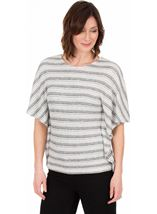 Knitted Stripe Short Sleeve Top