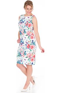 In Bloom Printed Sleeveless Scuba Dress
